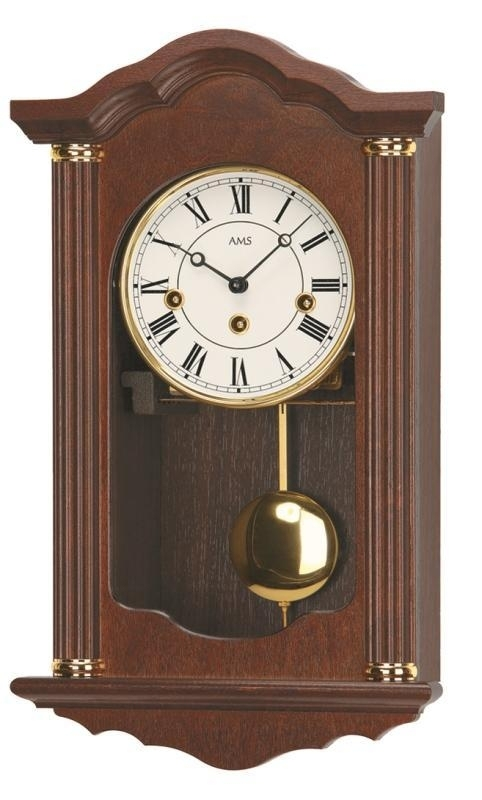 Kyvadlové mechanické nástěnné hodiny 2624/1 AMS 45cm + prodloužená záruka 3 roky