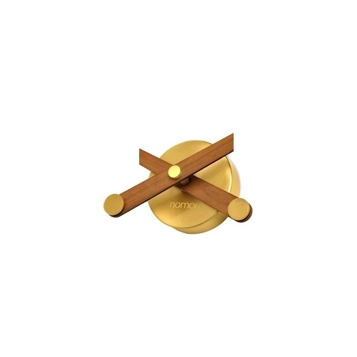 Designové nástěnné hodiny Nomon Sunset Gold ořech 50cm + prodloužená záruka 3 roky