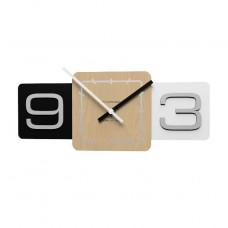 Designové hodiny 10-001 CalleaDesign 44cm (více barev) Barva černá klasik-5 - RAL9017