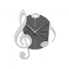 Designové hodiny 51-10-1 CalleaDesign 39cm (více barev) Barva stříbrná-2 - RAL9006