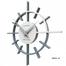 Designové hodiny 10-018 CalleaDesign Crosshair 29cm (více barevných verzí) Barva šedomodrá tmavá-44 - RAL5014