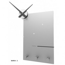 Designové hodiny 10-130 CalleaDesign Oscar 66cm (více barevných verzí) Barva stříbrná-2 - RAL9006