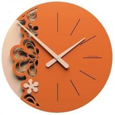 Designové hodiny 56-10-2 CalleaDesign Merletto Big 45cm (více barevných verzí) Barva světle červená-64 - RAL3020