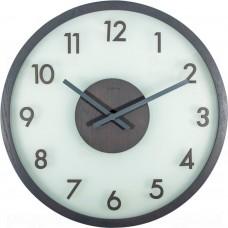 Designové nástěnné hodiny 3205gs Nextime Frosted Wood 50cm