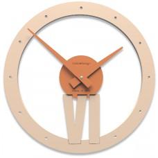 Designové hodiny 10-015 CalleaDesign Xavier 35cm (více barevných verzí) Barva tmavě modrá klasik-75 - RAL5017