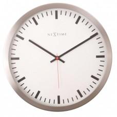 Designové nástěnné hodiny 2520 Nextime Stripe white 26cm