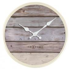 Designové nástěnné hodiny 3133gs Nextime Plank 30cm
