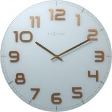 Designové nástěnné hodiny 8817wc Nextime Classy round 30cm