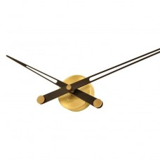 Designové nástěnné hodiny Nomon Axioma Gold Wenge 105cm