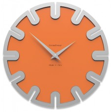 Designové hodiny 10-017 CalleaDesign Roland 35cm (více barevných verzí) Barva čokoládová-69 - RAL8017